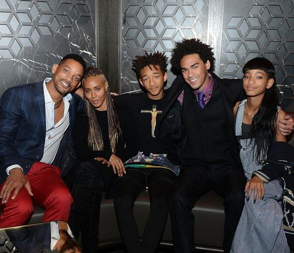 Will Smith, Jada Pinkett Smith, Jaden Smith and Willow Smith Celebrate Trey Smith's 21st Birthday at Hakkasan Las Vegas