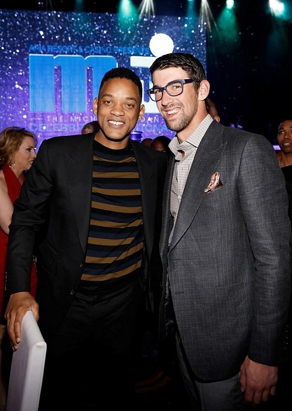 Will Smith and Michael Phelps