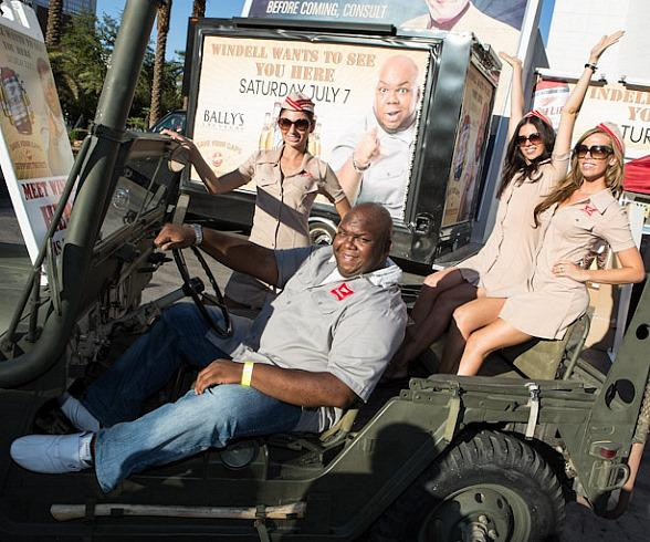 Miller High Life's Windell Middlebrooks Visits Caesars