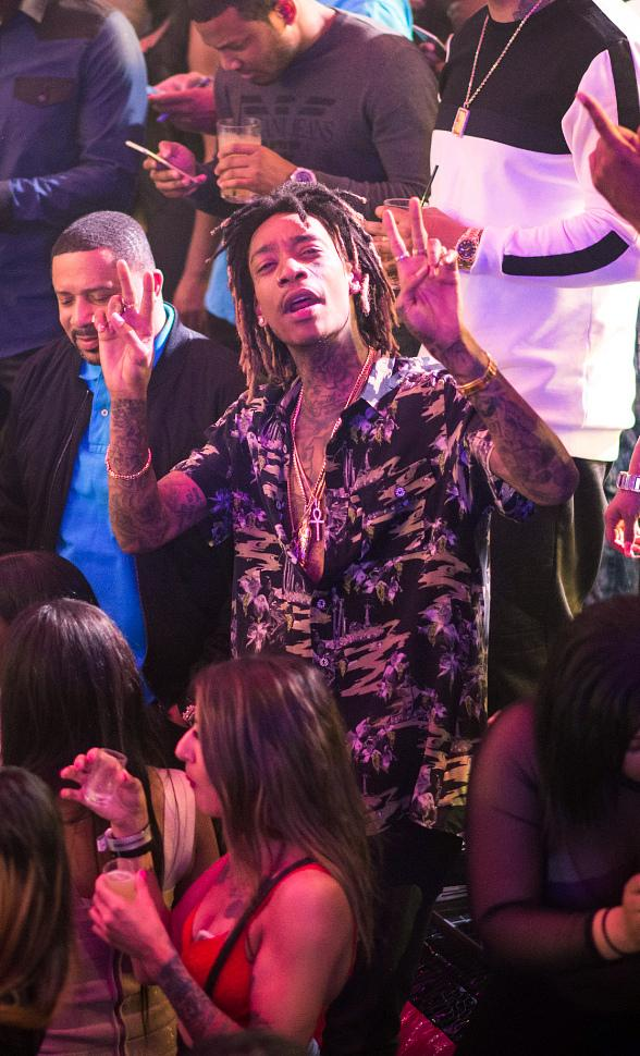 Wiz Khalifa Spotted at Drai's LIVE Performance by Fabolous at Drai's Nightclub