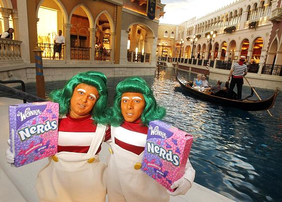 IT'SUGAR celebrates the opening of the largest candy store in Las Vegas with Wonka Oompa Loompas at the Venetian on Thursday, April 19, 2012 in Las Vegas.