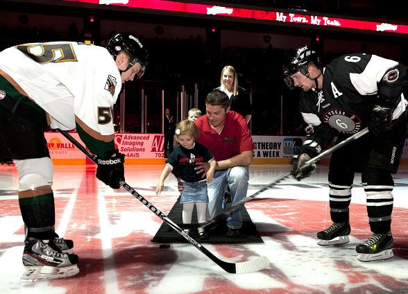 Shriners Patient Ambassador Alissa Perkins Drops the Puck at Wranglers ...