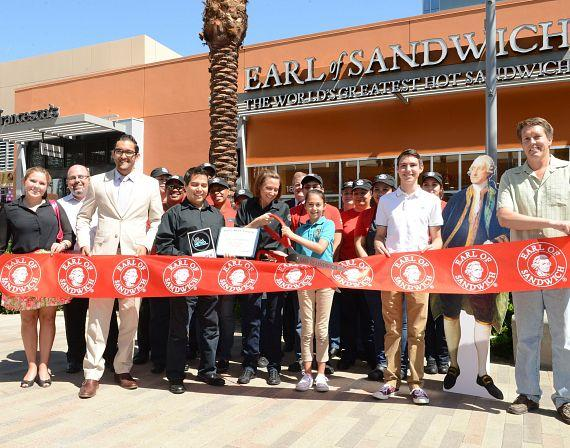 Ribbon cutting ceremony at Earl of Sandwich in Downtown Summerlin Mall