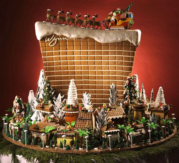 Wynn's Master Cake Artist Creates A Wynn Wonderland Made Of Gingerbread