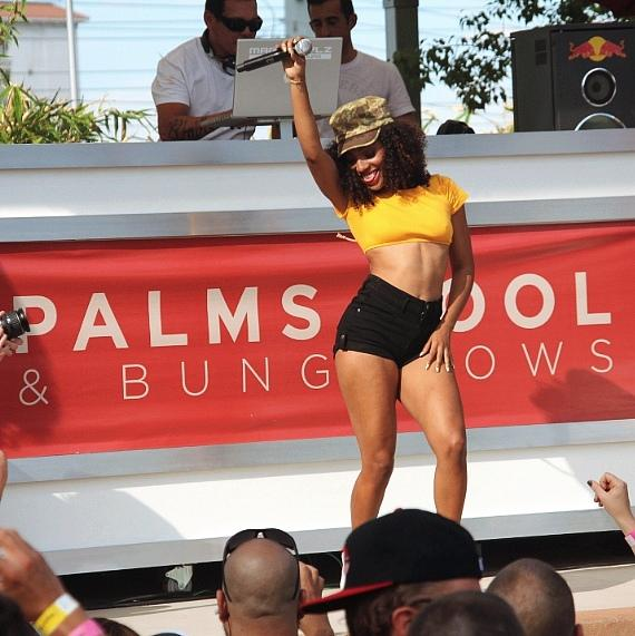 Wynter Gordon performing at Ditch Fridays at The Palms