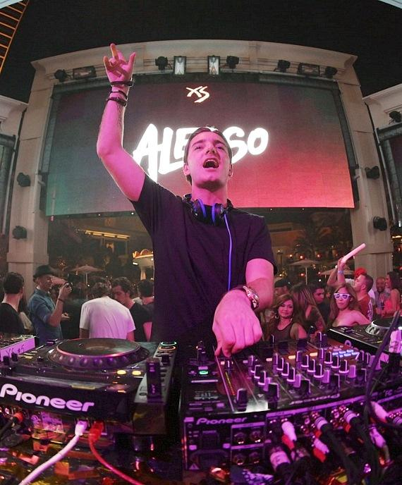 DJ Alesso performs at XS nightclub in Las Vegas