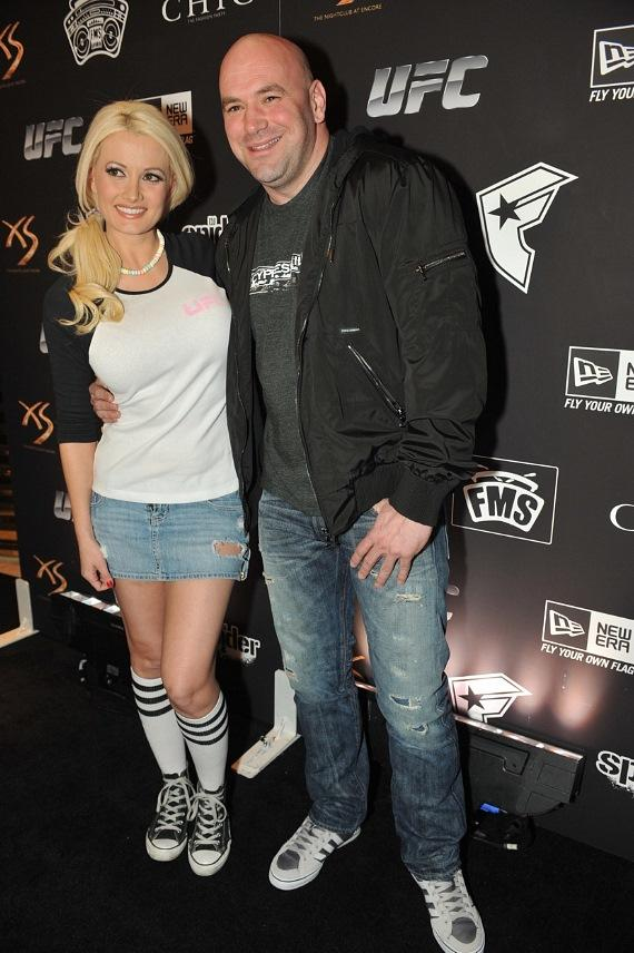 Holly Madison and Dana White at XS Nightclub