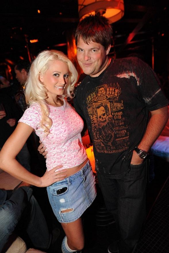 Holly Madison and Jareb Dauplaise at XS Nightclub