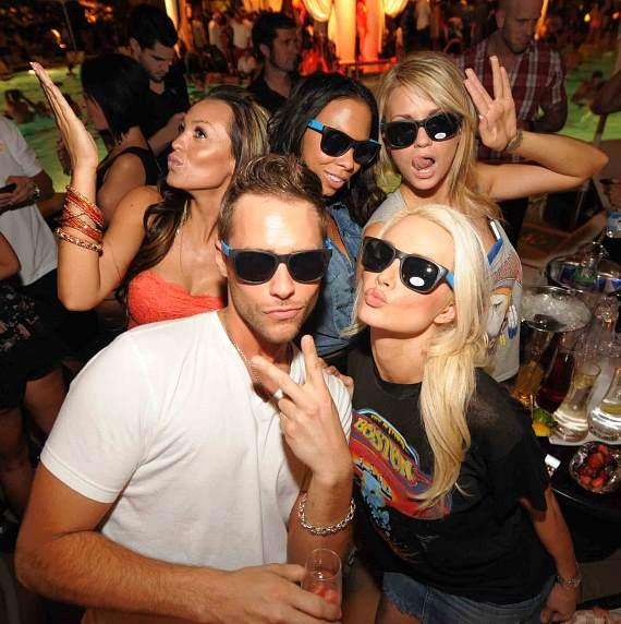 Holly Madison, Josh Strickland, Angel Porrino and friends