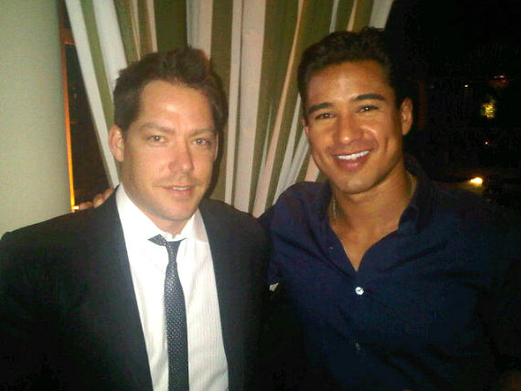 Jesse Waits and Mario Lopez at XS Nightclub