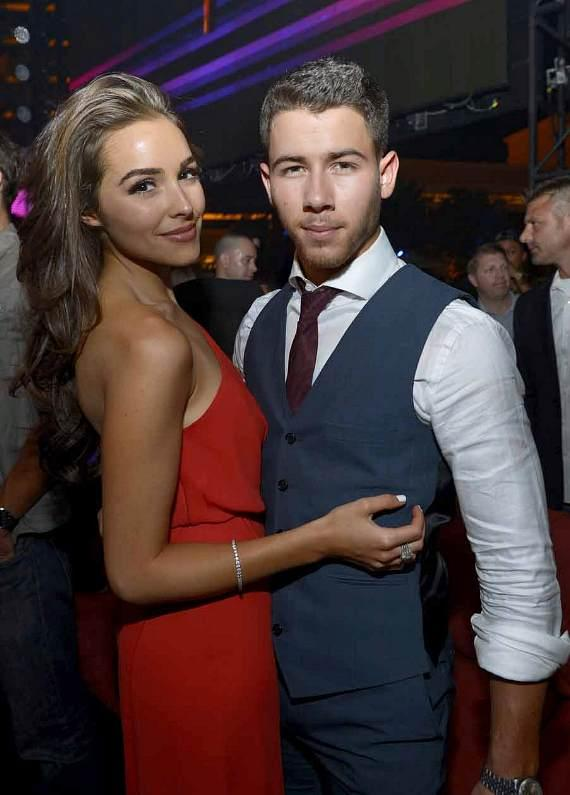 Olivia Culpo and Nick Jonas at XS