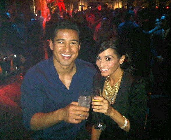 Mario Lopez and Courtney Mazza at XS Nightclub