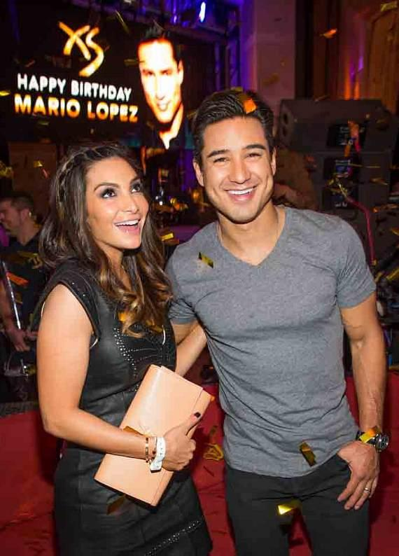 Courtney Mazza Lopez and Mario Lopez at XS