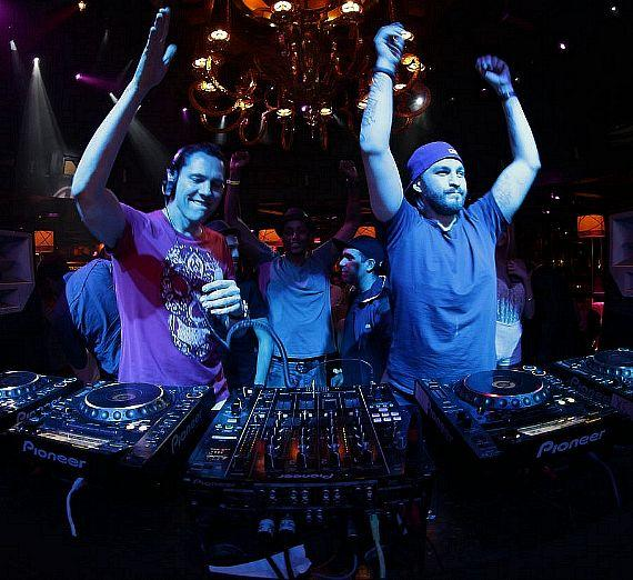 Tiesto and Steve Angello at XS Night Swim
