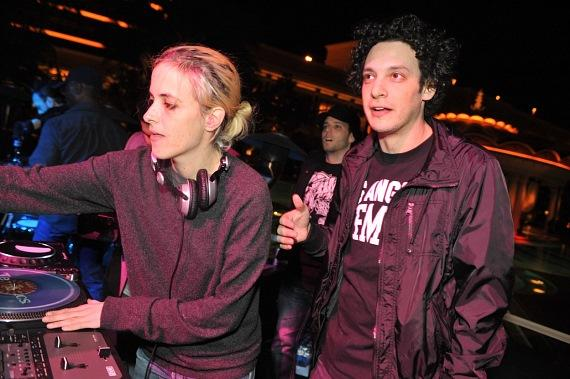 Samantha Ronson with DJ Spider at XS Nightclub