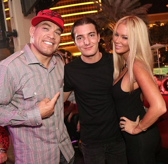 Tito Ortiz, DJ Alesso and Jenna Jameson at XS nightclub in Las Vegas