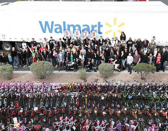 XS and Tryst staff outside Walmart
