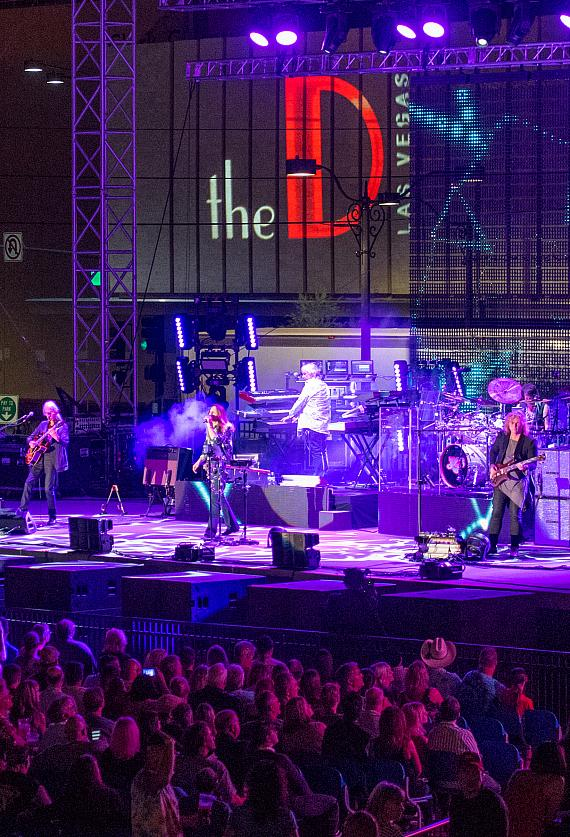 YES performs at the DLVEC across from the D Casino Hotel