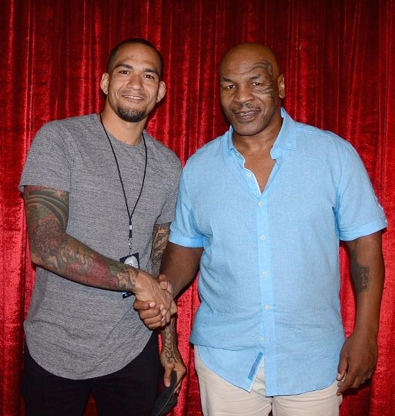 UFC fight Yancy Medeiros with Former Heavyweight Boxing Champ Mike Tyson