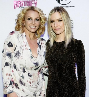"Britney Spears and Kristin Cavallari at ""Britney: Piece of Me"" at Planet Hollywood Resort & Casino"