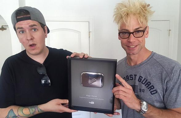 MURRAY Receives his 100,000th Subscriber Award from YouTube