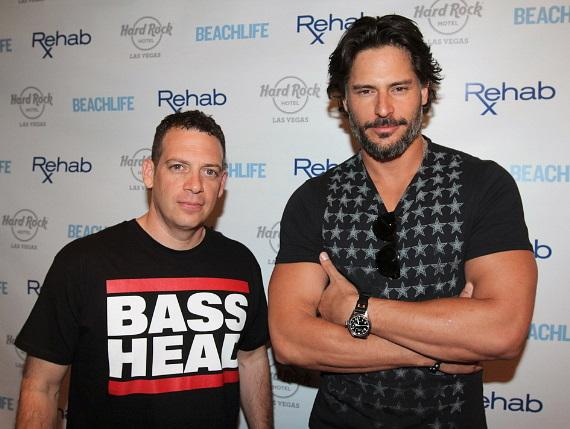 Z-Trip and Joe Manganiello on red carpet