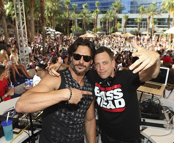Joe Manganiello and DJ Z-Trip