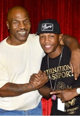 "Five-Time World Boxing Champ Zab Judah and hip-hop legend Eric B attend ""Mike Tyson Undisputed Truth"" at MGM Grand in Las Vegas"
