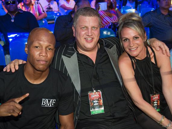Zab Judah with the D owner Derek Stevens and wife Nicole