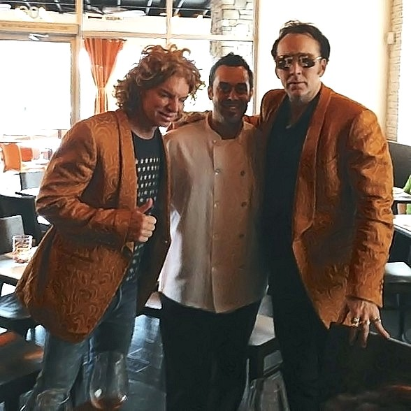 Nicolas Cage & Carrot Top at Due Forni in Las Vegas