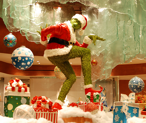Grinch at Jean Philippe Pâtisserie Holiday Display