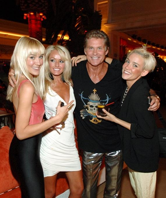 David Hasselhoff, Hayley Roberts with the Nervo Twins