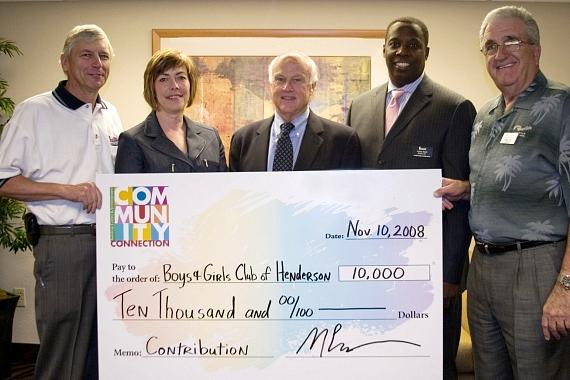 American Casino & Entertainment Properties Donate $10,000 to the Boys & Girls Clubs of Henderson