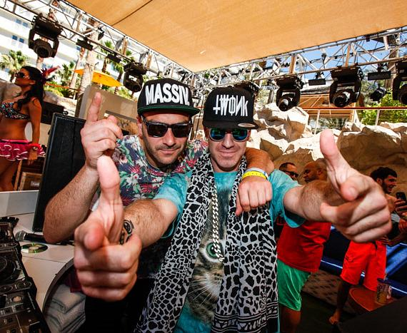 AC Slater and Brillz at Paradise Beach at Hard Rock Hotel & Casino