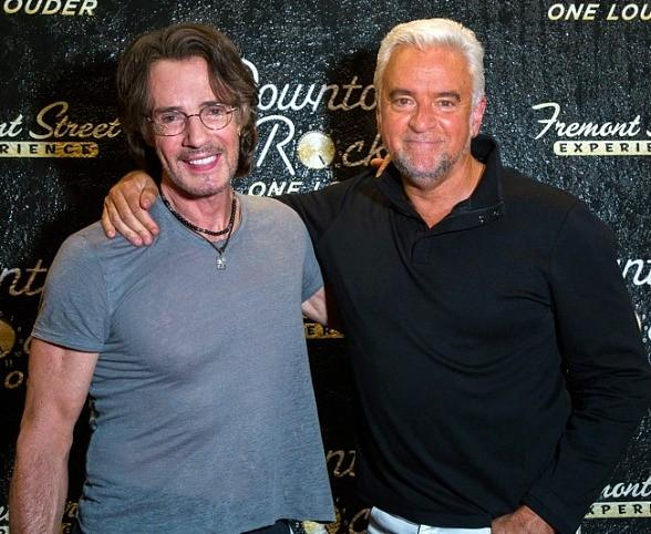 Actor John O'Hurley and UFC President Dana White Rock to Rick Springfield on Fremont Street