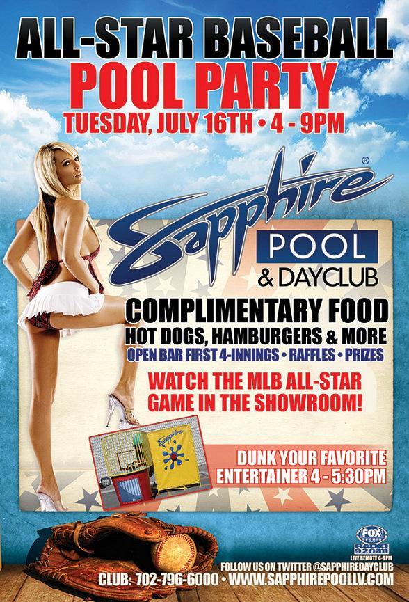 Sapphire Pool & Dayclub to Host All-Star Baseball Pool Party Tuesday, July 16