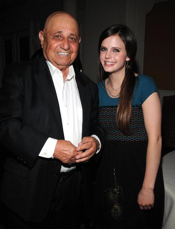 Andre Agassi's father, Mike Agassi with Tiffany Alvord at Turnberry Place in Las Vegas