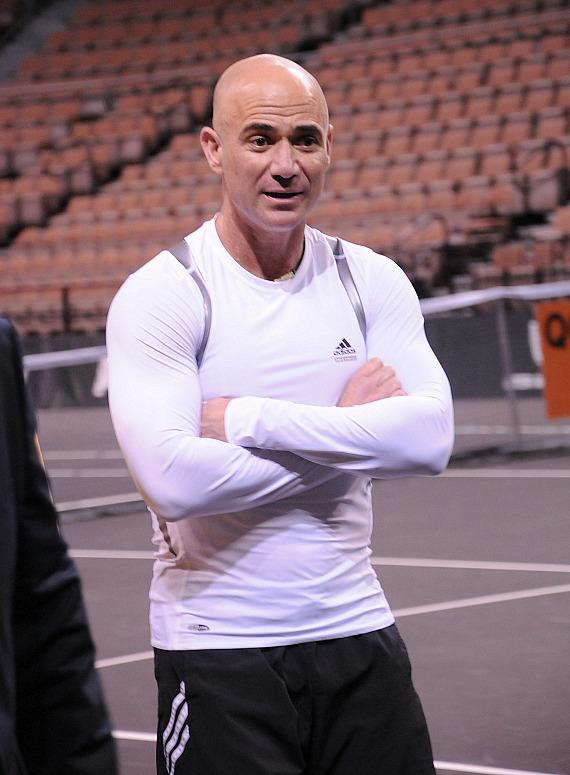 Andre Agassi at the 2012 PowerShares Series in Las Vegas