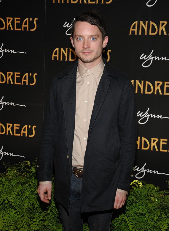 Elijah Wood at Andrea's grand opening in Las Vegas