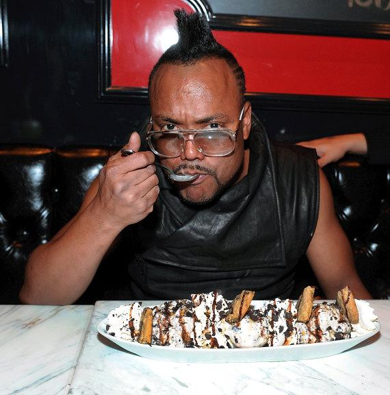 apl.de.ap indulges in a Cookie Jar sundae at American Brasserie at Paris Las Vegas.