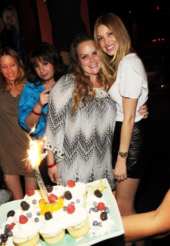 Ashley and Whitney Port at TAO in Las Vegas