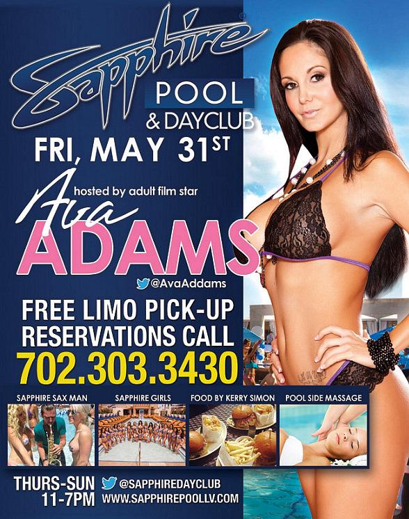 Ava Addams to Host at Sapphire Pool & Dayclub Friday May 31