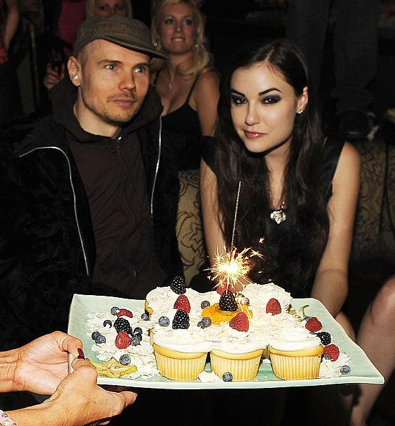 Billy Corgan of The Smashing Pumpkins and Sasha Grey at TAO