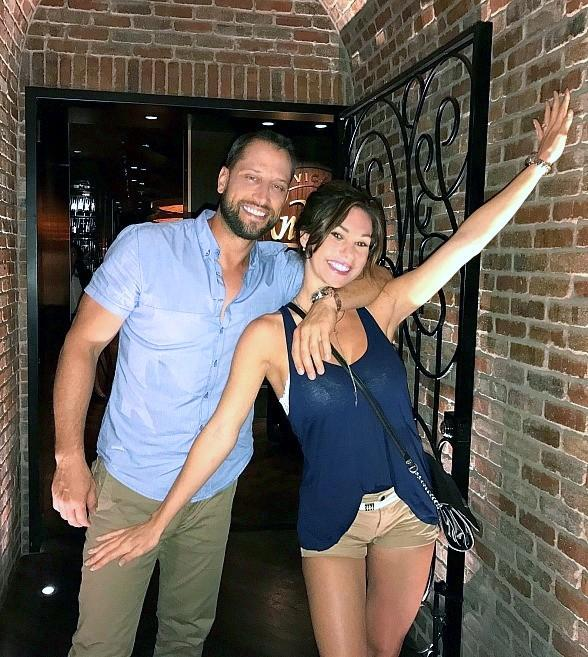 "ABC ""Bachelor Pad"" Winner David Good Dines at Andiamo Italian Steakhouse with Fiance Brianna Alise"