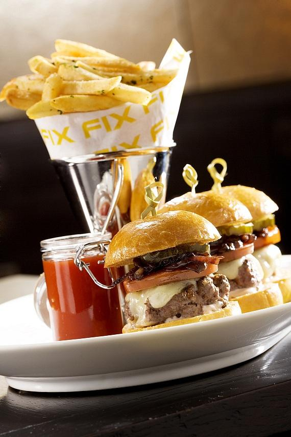 Bobby Baldwin Sliders at FIX Restaurant and Bar at Bellagio