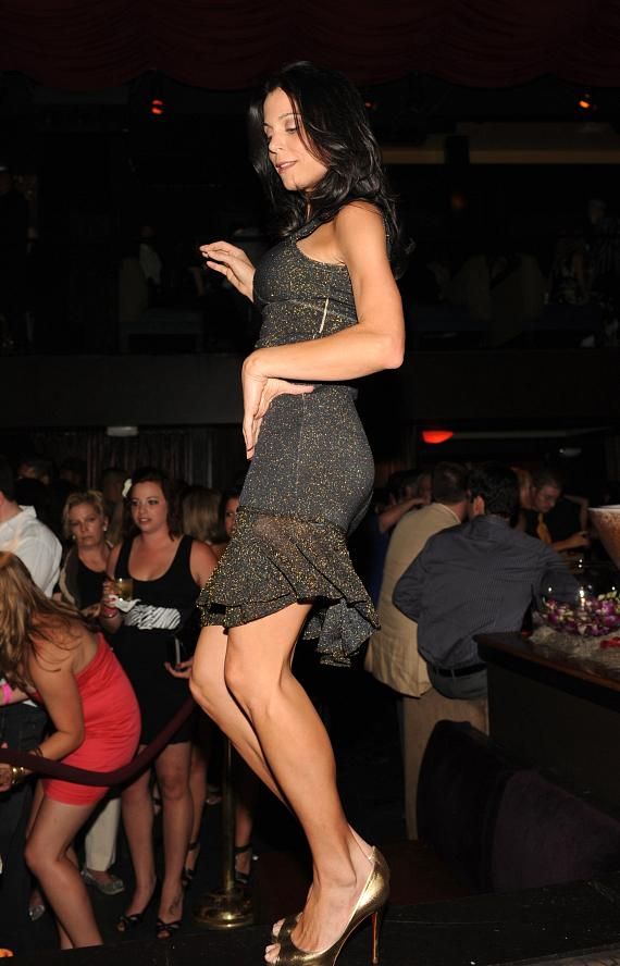 Bethenny Frankel dancing at LAVO