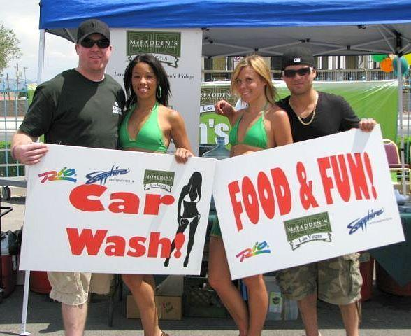 Rio's Bikini Car Wash Raises $1700 for United Way of Southern
