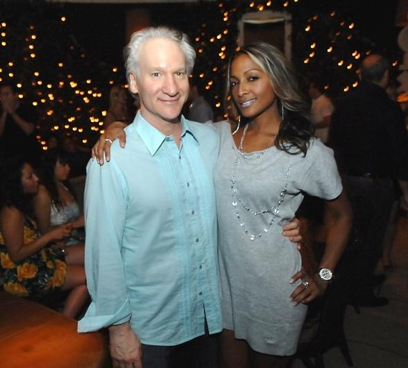 Bill Maher and friend at Blush Boutique Nightclub