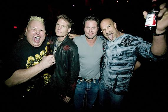 Goldberg parties at Cary Hart's Wasted Space with NY Yankees Jason Giambi and friends.