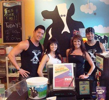 """X"" cast members at Ben & Jerry's"